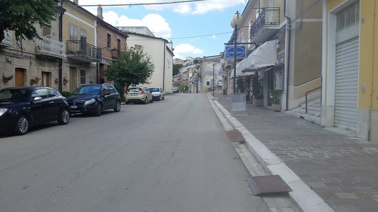 This is the main road into Castelluccio Valmaggiore. It's known as Via Santa Maria, but to the locals is Via Nova (New Road).