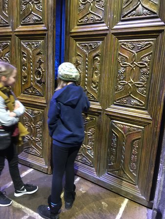 My daughter was chosen to open the doors to the Great Hall at the beginning of the tour!!