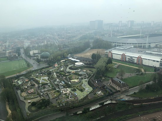 View from Atomium (better than it looks) mini Europe