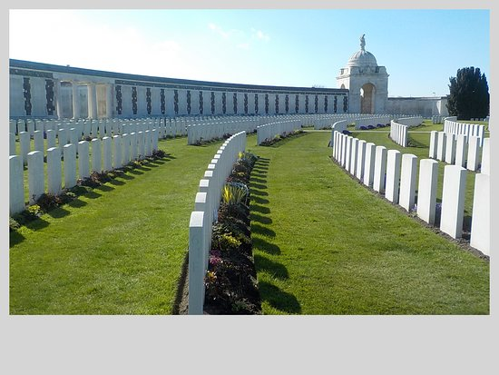 Tyne Cot Cemetery: row after row of graves