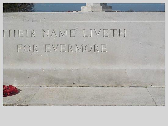 Tyne Cot Cemetery: inscription