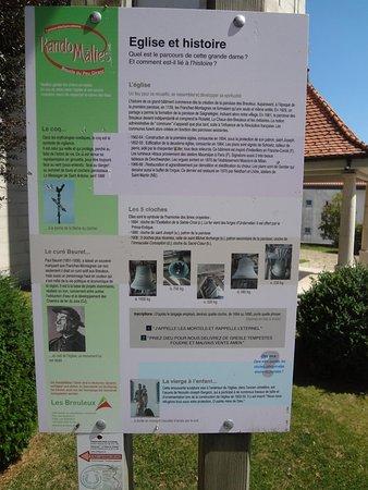 Eglise paroissiale St-Joseph: Eglise St-Joseph aux Breuleux (panneau d'informations à l'extérieur)