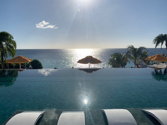 View from upper infinity pool