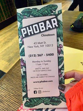 PhoBar: Menu