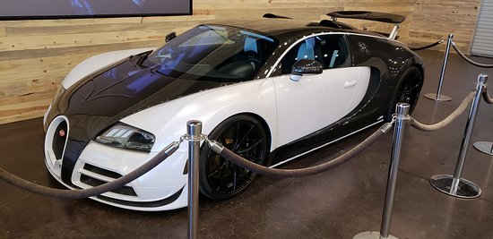 Bugatti in the showroom.