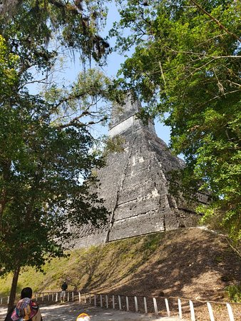 Tikal with a real local person