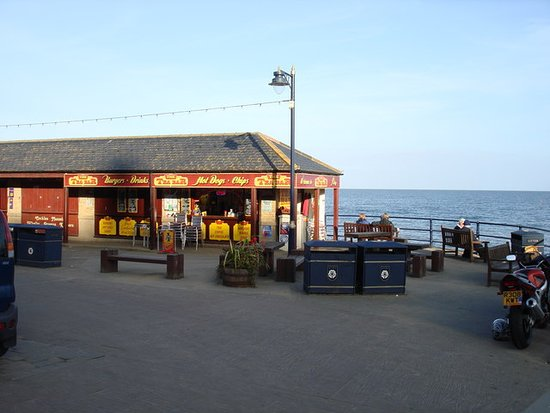 View Out to Sea from The Tea Bar in Filey