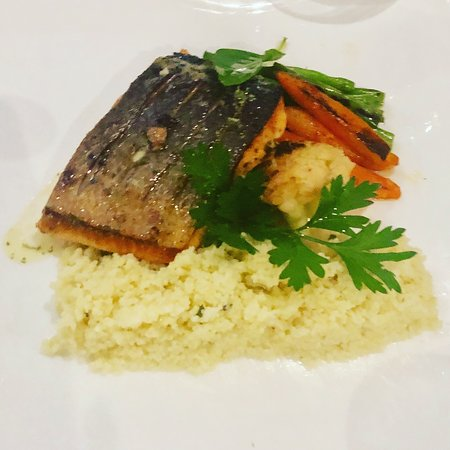 Grilled Salmon with couscous & grilled vegetables