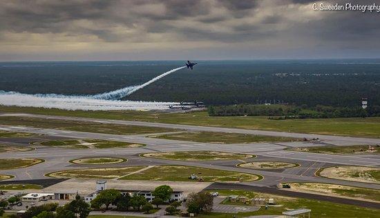 Blue Angels initiating their break when landing.