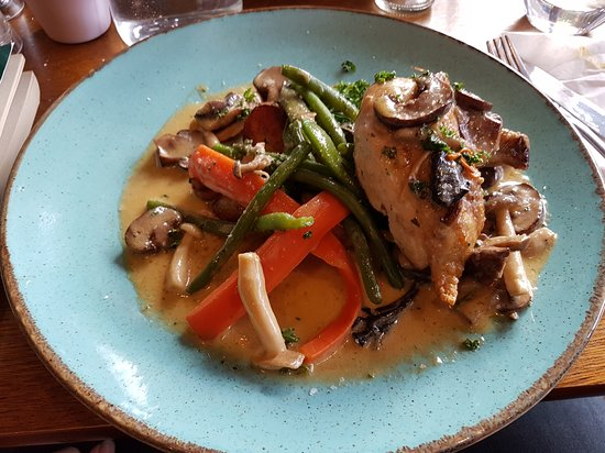 Chicken with wild mushroom sauce from the specials menu