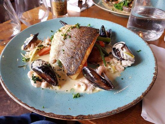 Sea bass from specials menu