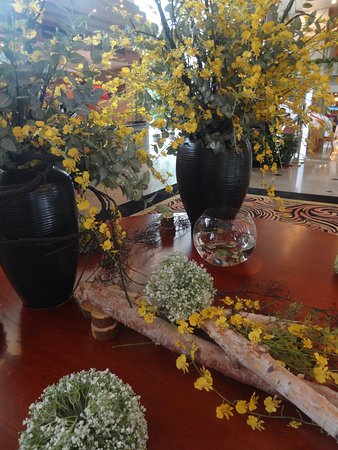 Lovely floral displays in the reception foyer
