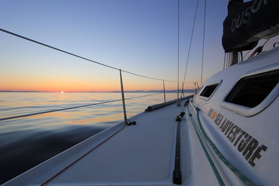Sunset sailing with Vis Sea Adventure