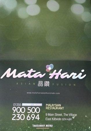 Mata Hari by Asian Fusion: Mata Hari by Asian Fusion New Takeaway Menu (April 2019)
