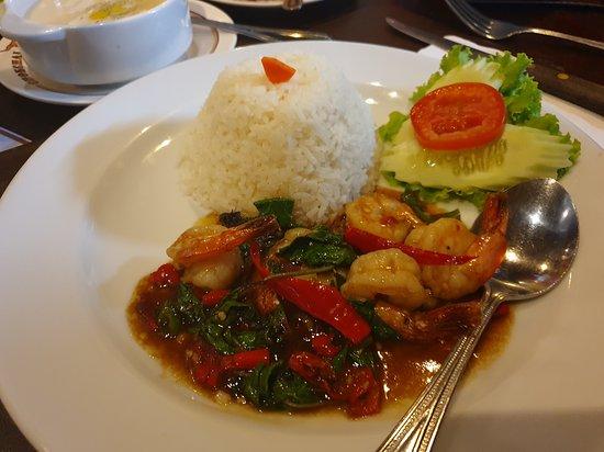 Pad Krapao Shrimp