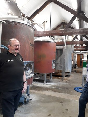 St. Peter's Brewery: Coppers used in the beer-making process
