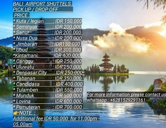 Bali, Indonesia: Shutle pick up airport