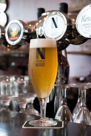 "Our local beer ""Noordsingle"" from brewer Noordt."