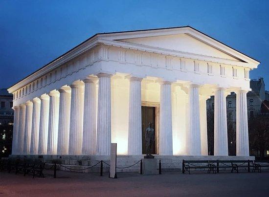 Theseus Temple in public gardens central Vienna .