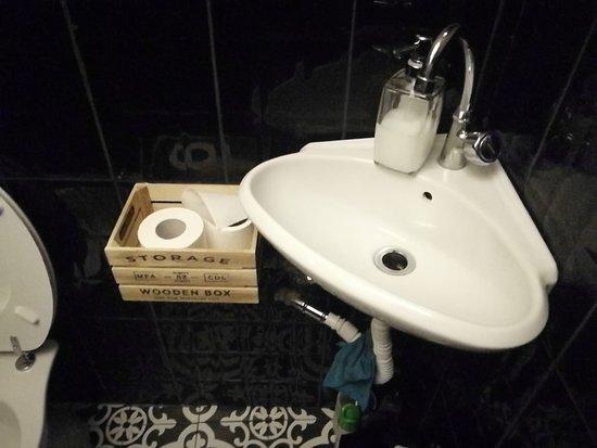 il comodissimo bagno con l'annessa carta igienica multifunzione.