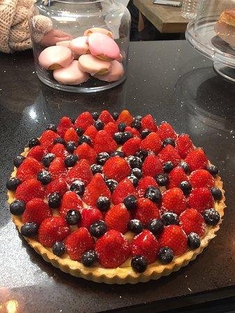 Tarte aux fraises Myrtilles Maison