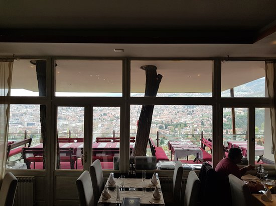 restaurant view from inside