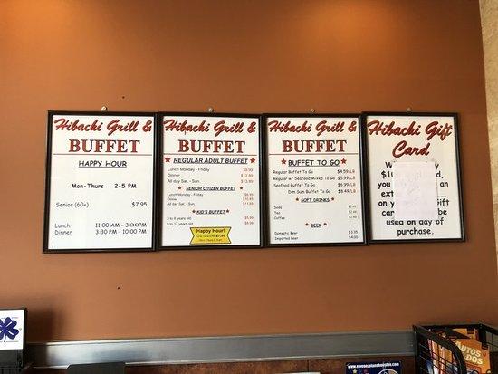 Hibachi Grill & Buffet: Pricing