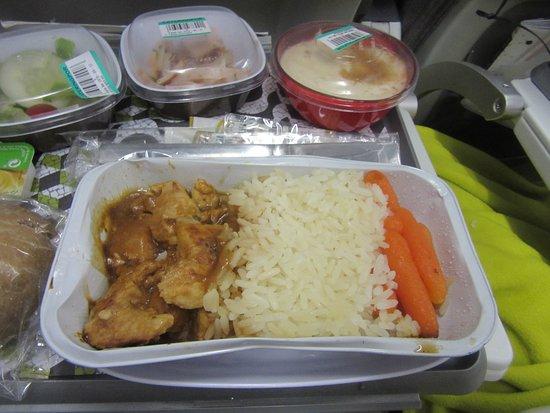 TAP Air Portugal: Dinner-chicken