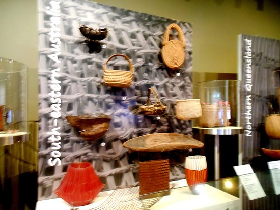 Canberra Day Trip from Sydney: Baskets in the Aborigine cultural section of the National Museum