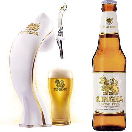 Thai Restaurant & Cafe Chedi Luang Kitahorie: 関西初シンハー生ビールをご用意しております。
