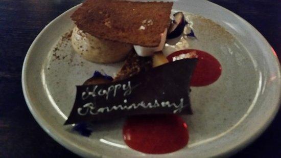 Special message on my dessert
