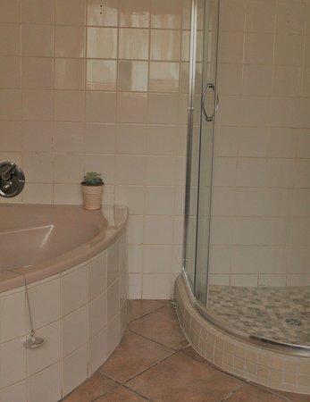 Middelburg, Afrique du Sud : Bathroom with bath, shower, basin and toilet