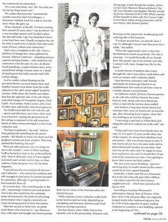 Five Corners Cafe: An article about our Diner in Indulge, a Vancouver Magazine Pg2