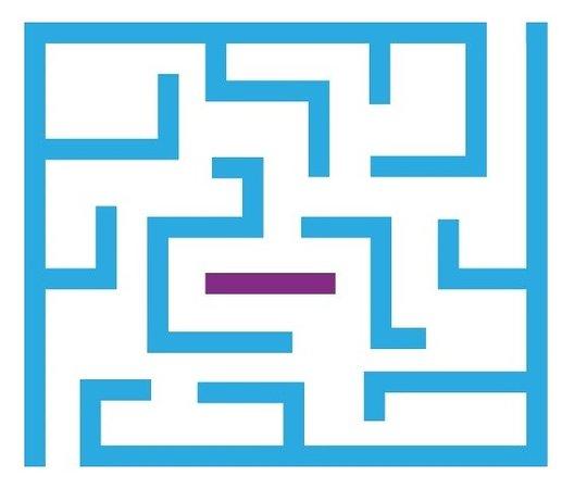 Winnard's Perch, UK: Logo maze