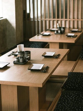 Our HORIGOTATSU seats are popular to small groups.
