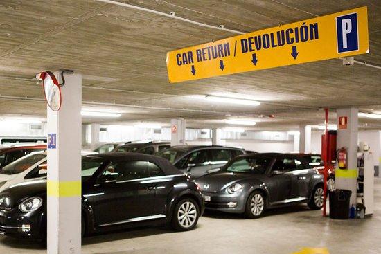Zona de devolución de los vehículos