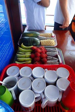 Nha Trang Sea Star: bij aankomst fruit thee en koffie