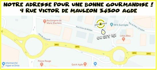 أجد, فرنسا: Notre Adresse