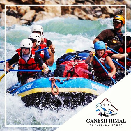Dhading, Nepal: Rafting at Trishuli River. Nepal boast fast flowing rivers which is suitable foe adventurous sports which includes rafting, kayaking, beach Volleyball, river-side camping and fishing.