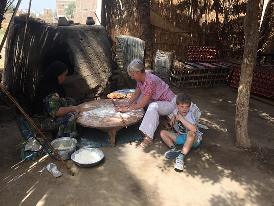 baking bread in with a local farmer