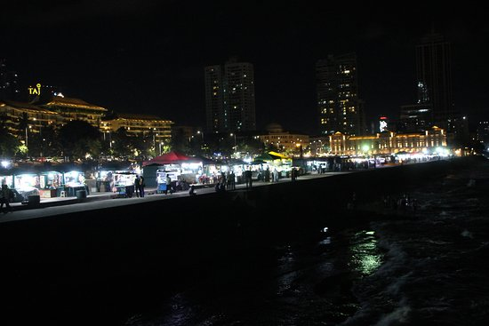 Galle Face Green by night