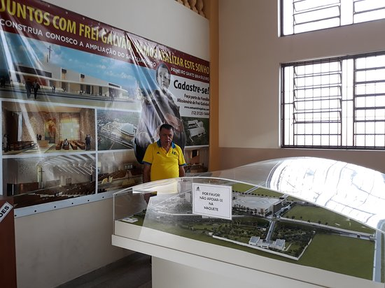 Maquete do Santuário Frei Galvão ! Um lindo e  imenso projeto !