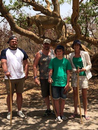 Fathala lion walk and jeep safari