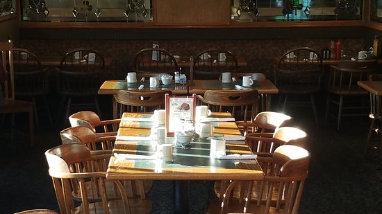We have a great family dining area where the sun shines that is good for groups of all sizes.