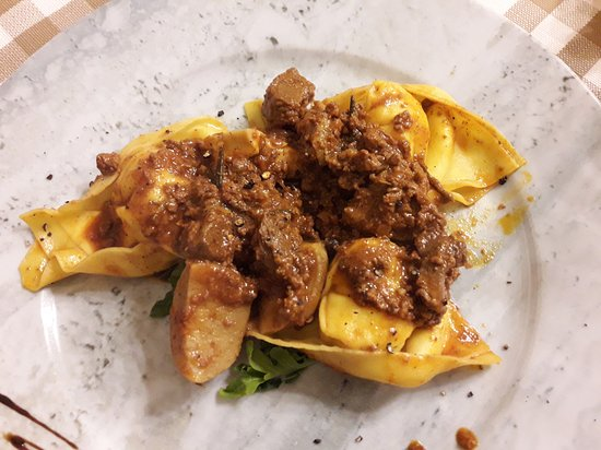 Wild boar with pasta