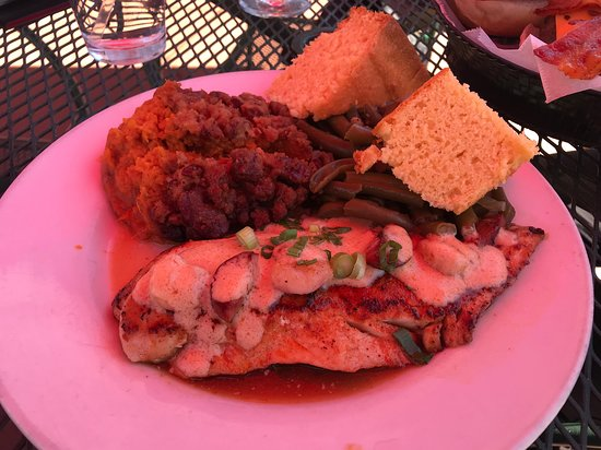 Redfish Orleans - (photo is shaded as we were seated in outdoor area)