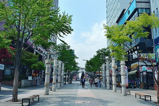 Suwon, Corée du Sud: 나혜석거리 전경