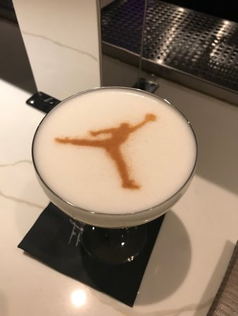 InterContinental Chicago Magnificent Mile: Drink from Micheal Jordan's Restaurant that is connected to the hotel lobby.