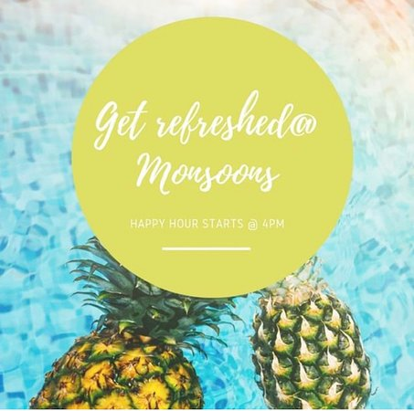 Daily Happy Hours at Monsoons