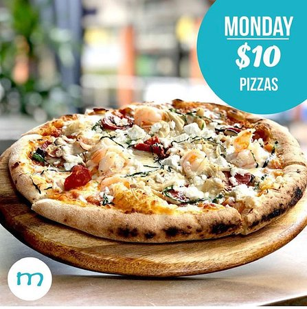 $10 Pizza's every Monday night at Monsoons